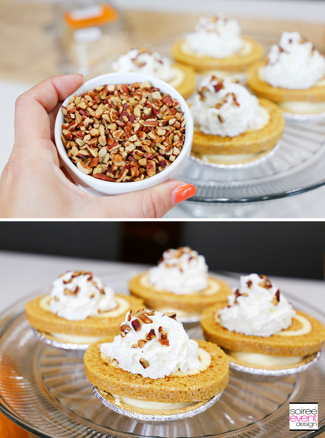 Mini Pumpkin Roll Cheesecakes - Step 6