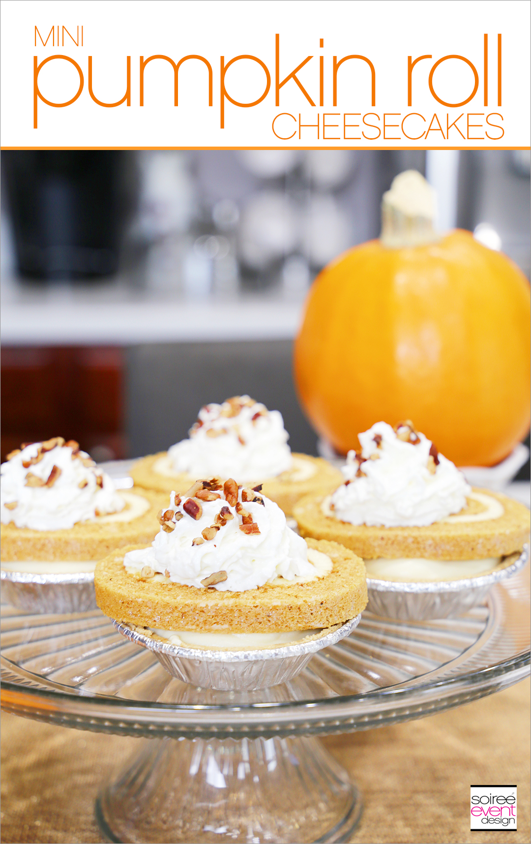 Mini Pumpkin Roll Cheesecakes recipe