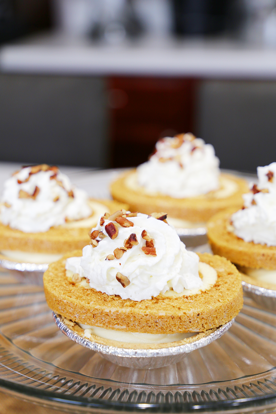 Mini Pumpkin Roll Cheesecakes