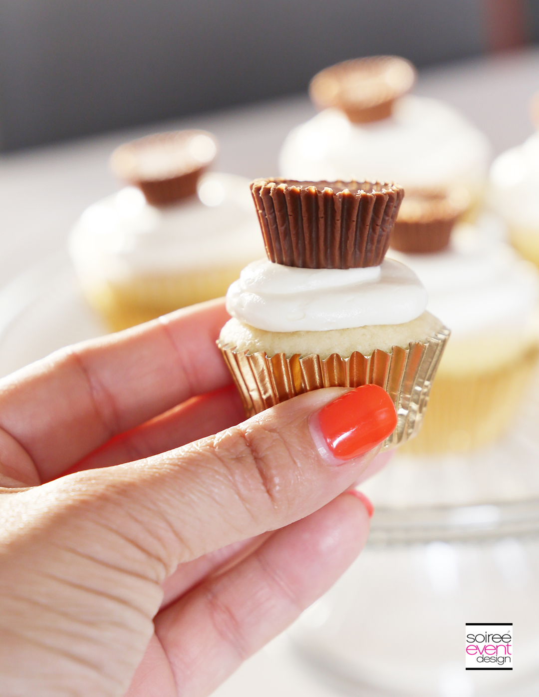 Mini REESE'S Peanut Butter Cup Cupcakes