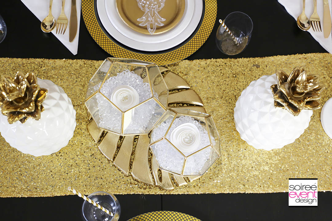 Modern Gold Pineapple Party Tablescape 9
