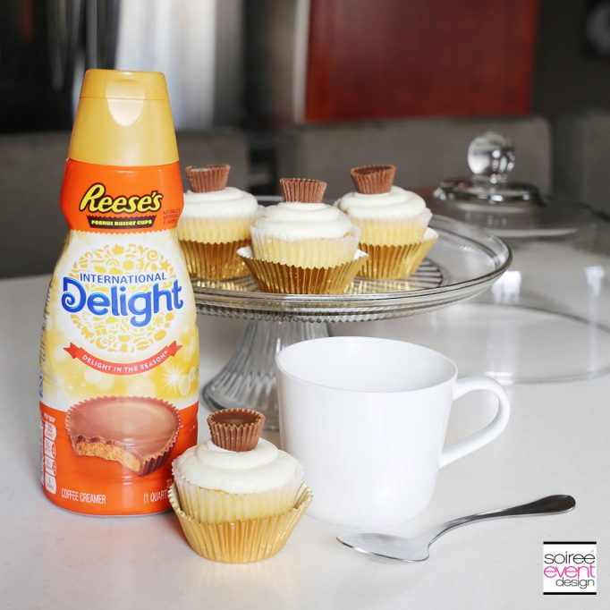 REESE'S Peanut Butter Cup Cupcakes and Coffee!