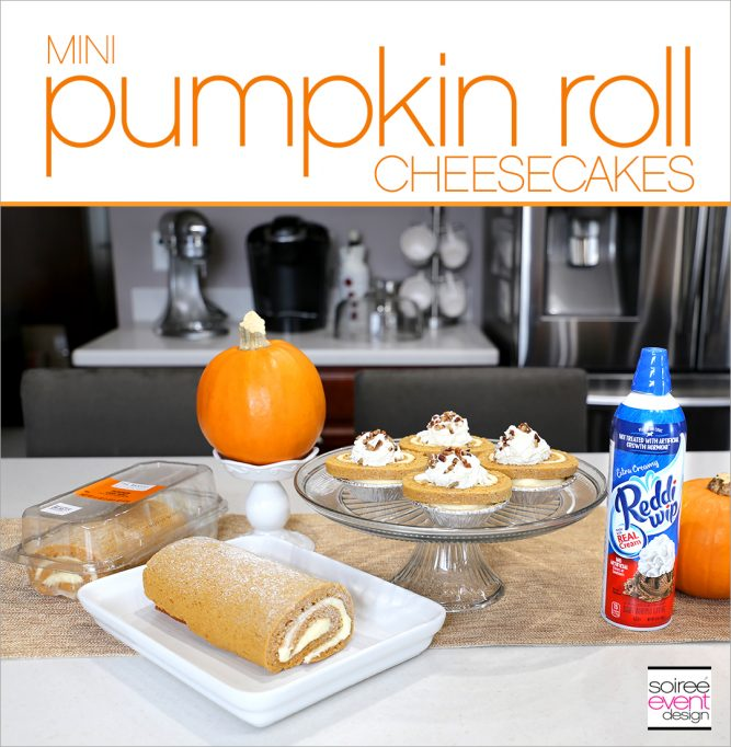 No-Bake Mini Pumpkin Roll Cheesecakes