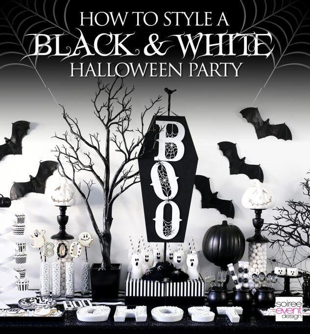 BOO Black and White Halloween Party
