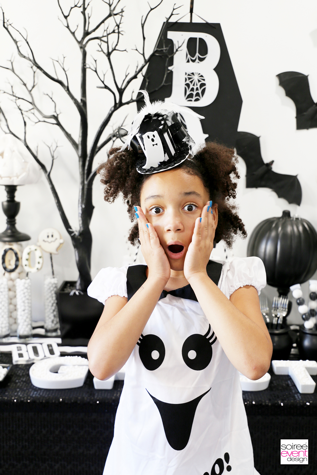Black and White Halloween Party Ideas for Kids