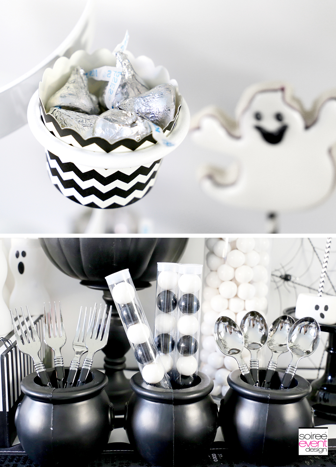 Black and White Halloween Party - Silver cutlery
