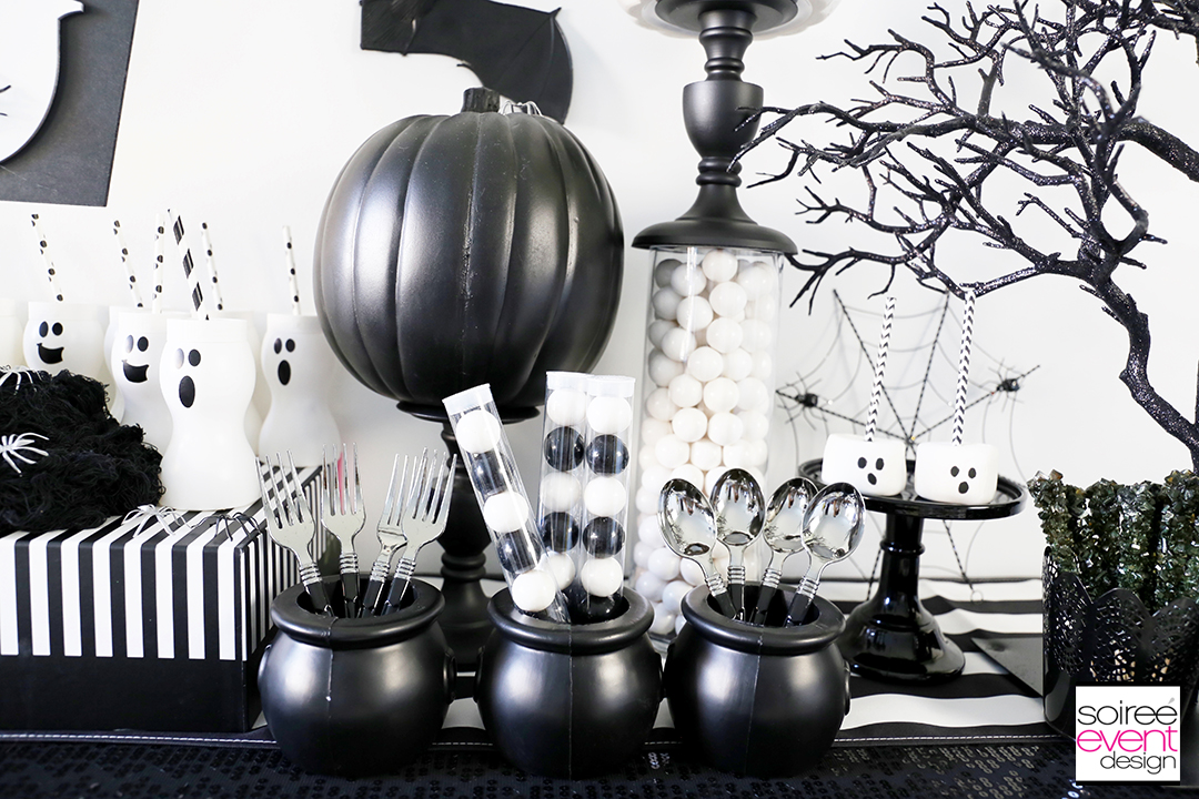 Black and White Halloween Party - Striped Runner