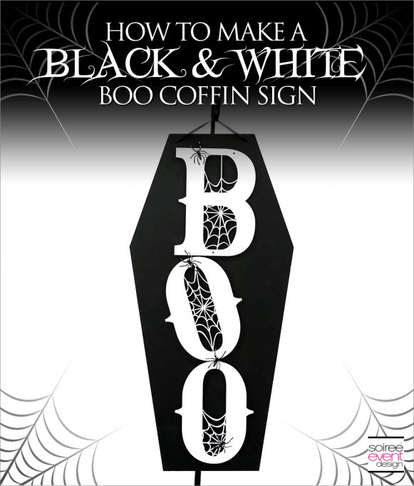 DIY Black and White Boo Wall Sign Tutorial