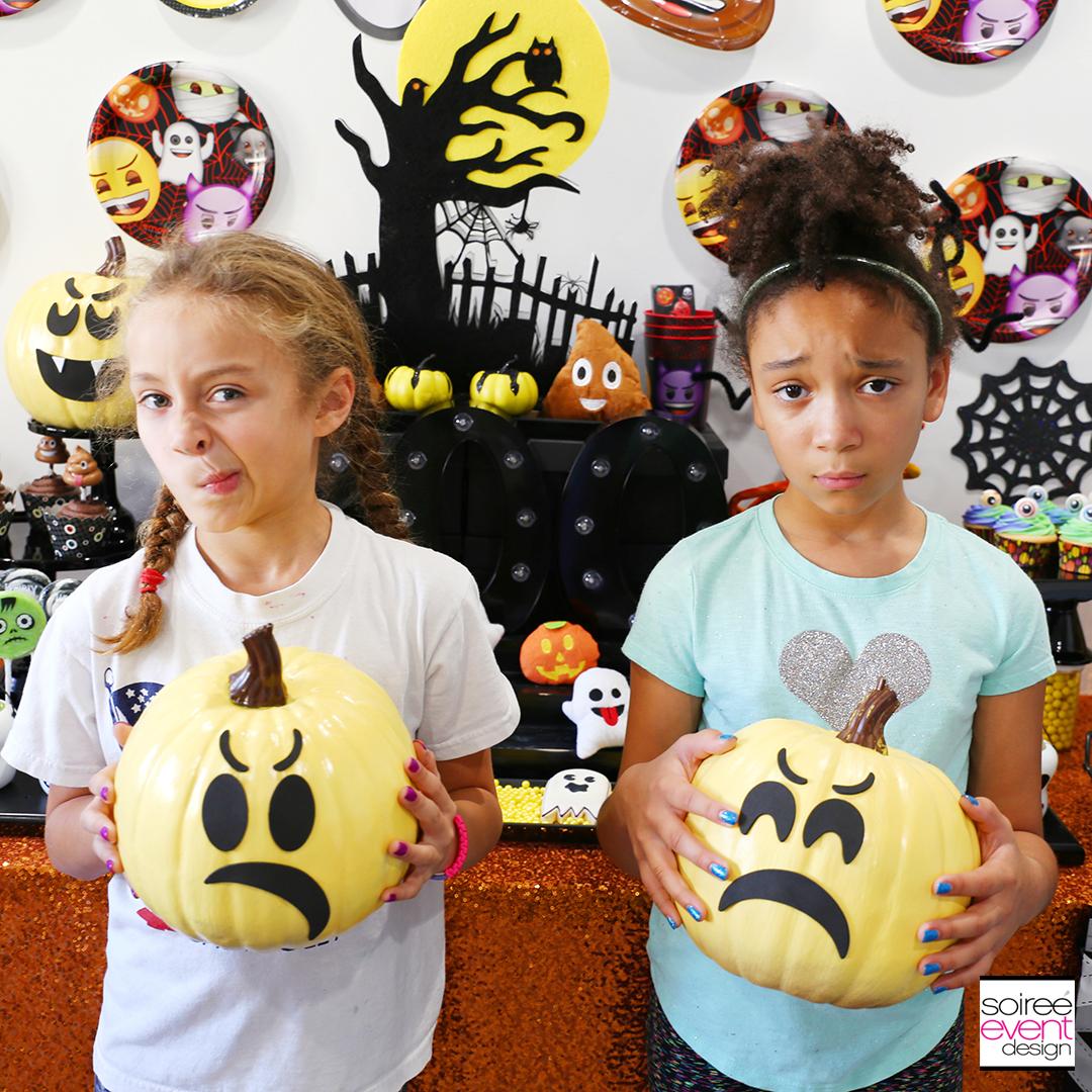 DIY Emoji Pumpkins Party activity