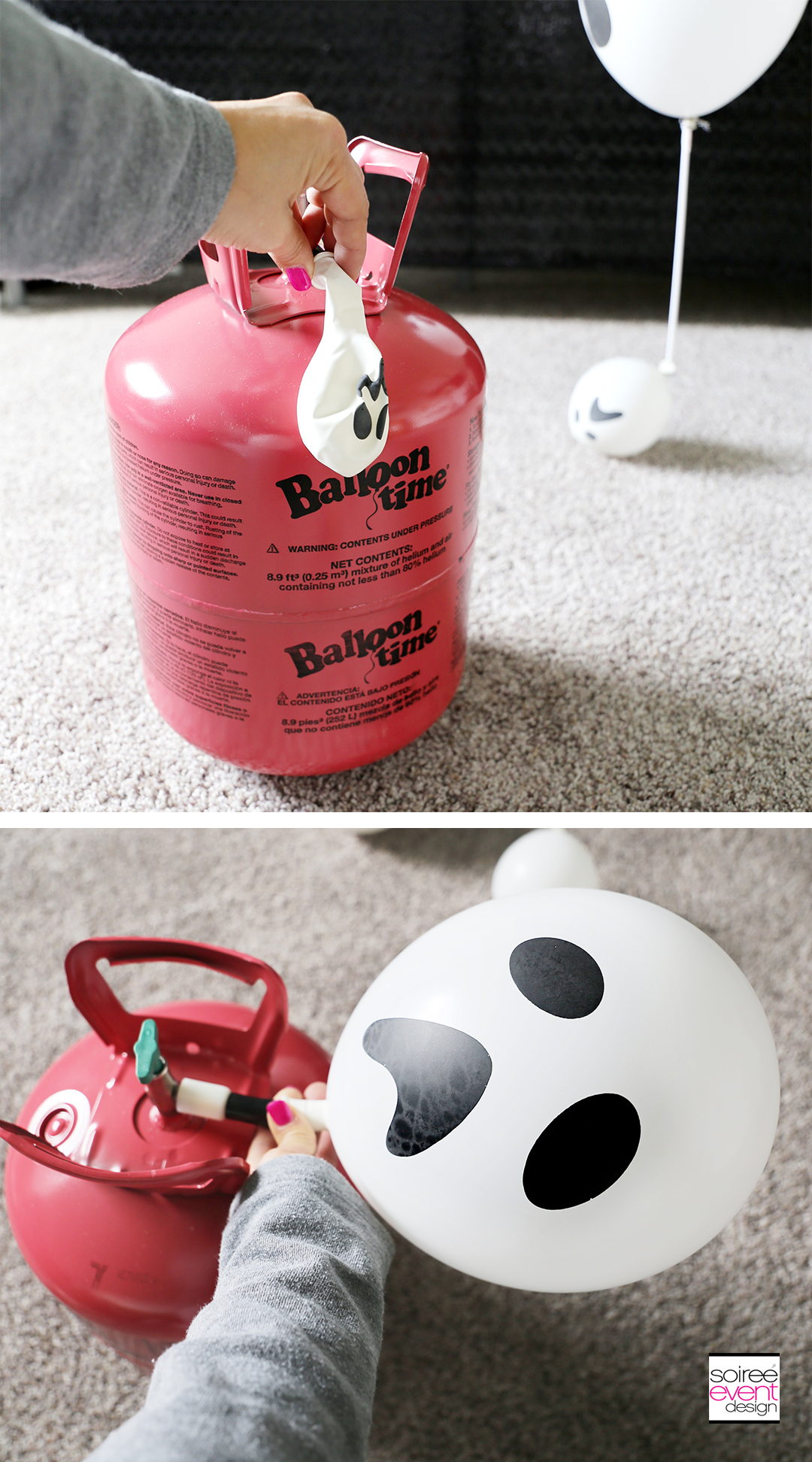 DIY Ghost Balloon Floaters - Step 1