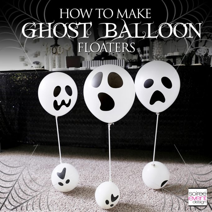 DIY Ghost Balloon Floaters Halloween Decorations