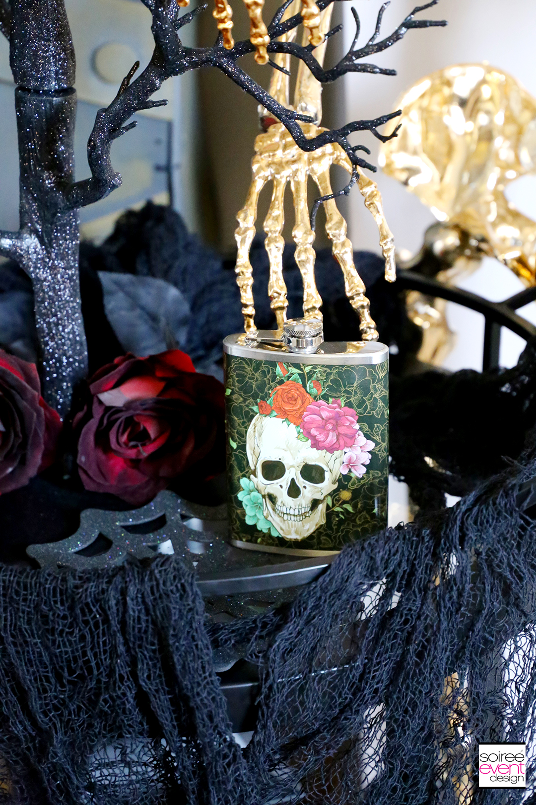 Day of the Dead Entryway - Halloween Bar Cart