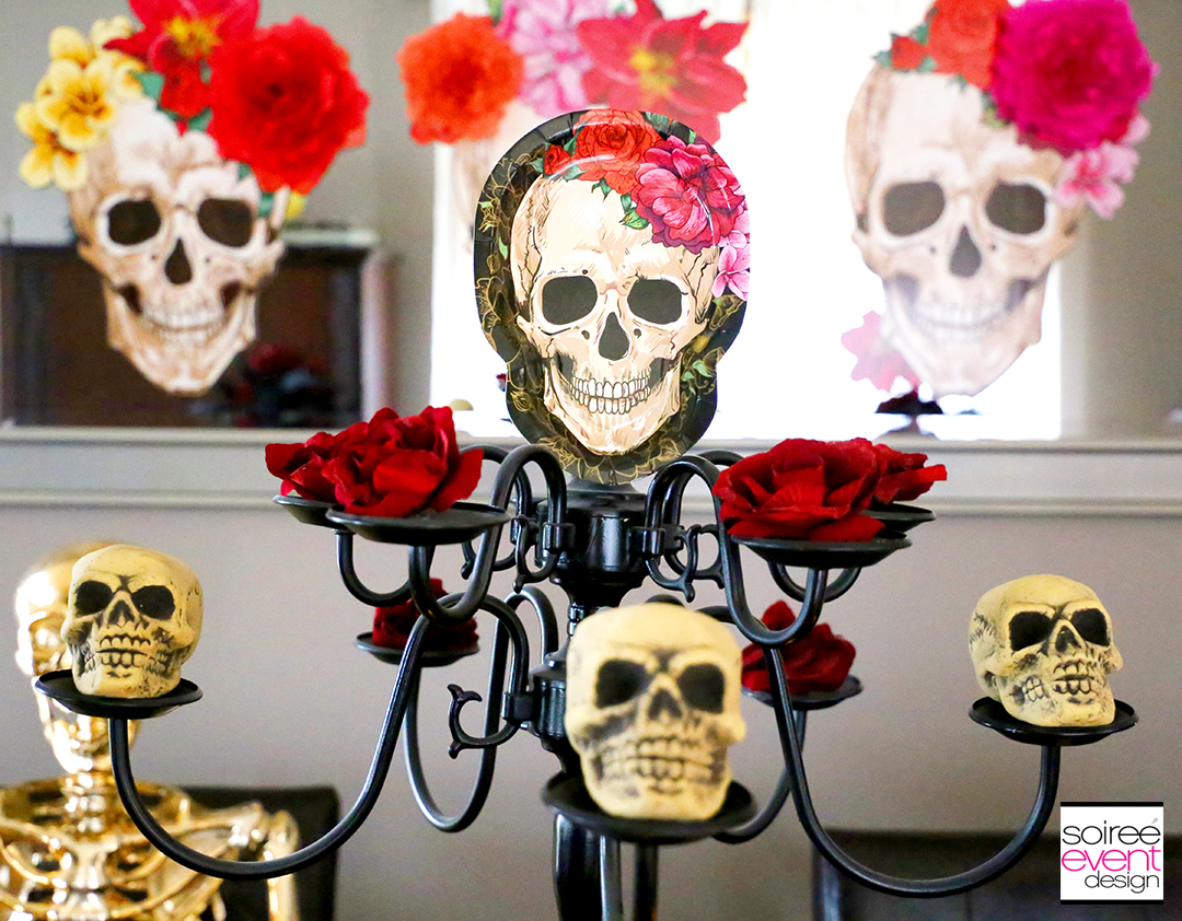 Day of the Dead Party Ideas - Chandelier Centerpiece