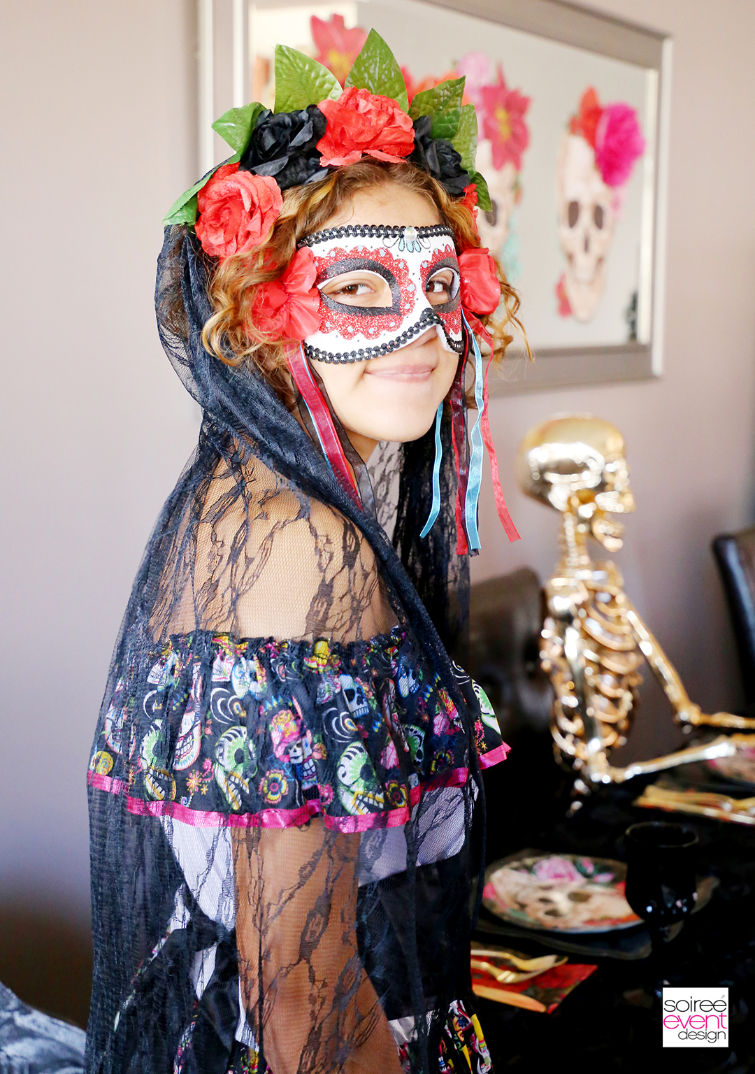 Day of the Dead Party Ideas - Day of the Dead Costume and Veil