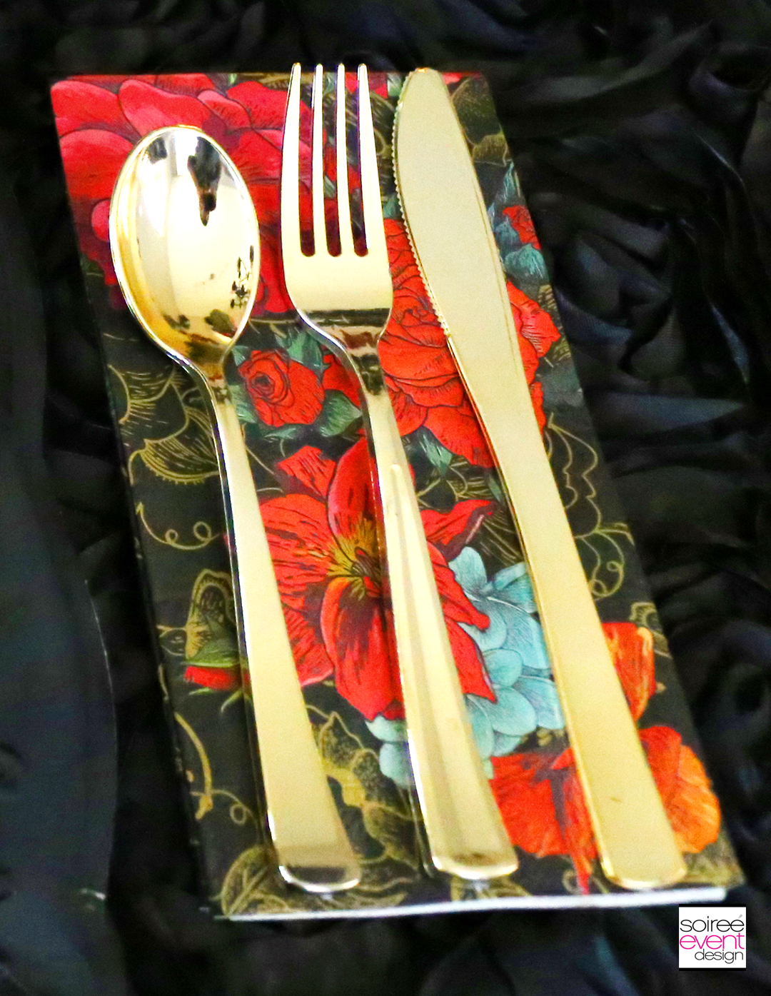 Day of the Dead Party Ideas - Gold Cutlery