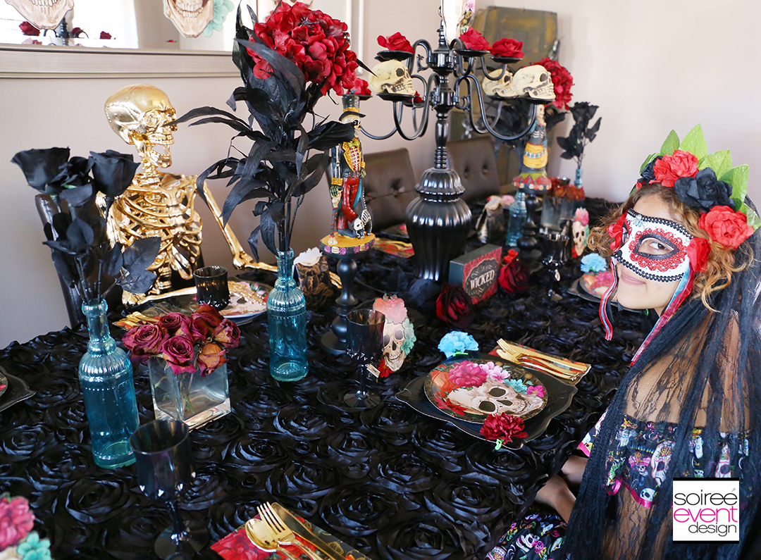 Day of the Dead Party Ideas - Halloween Dining Table 2