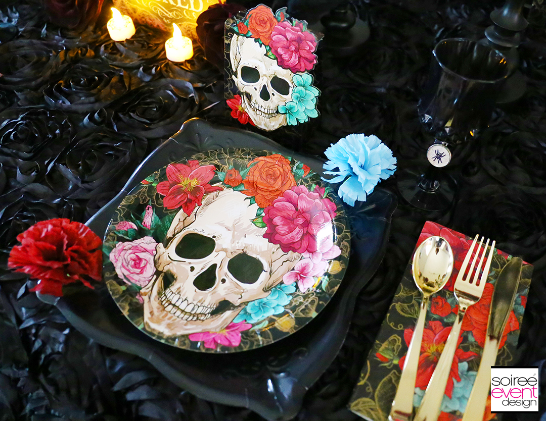 Day of the Dead Party Ideas - Halloween Place Setting