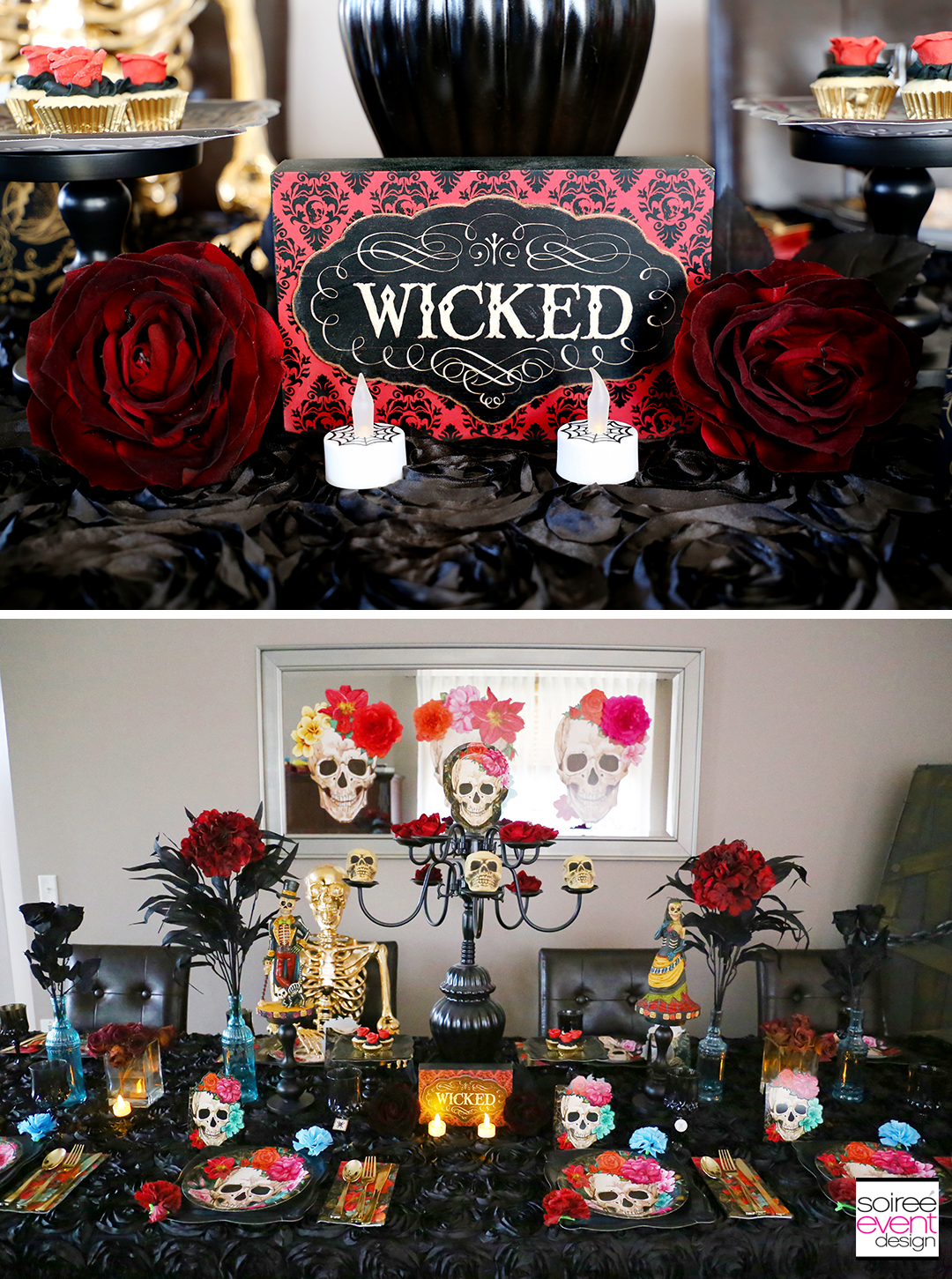 Day of the Dead Party Ideas - Halloween party table