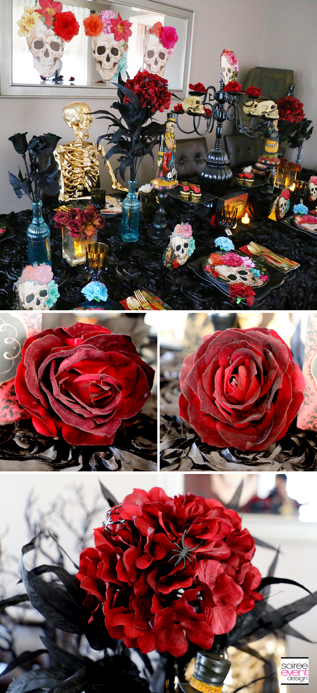 Day of the Dead Party Ideas - Red Flowers