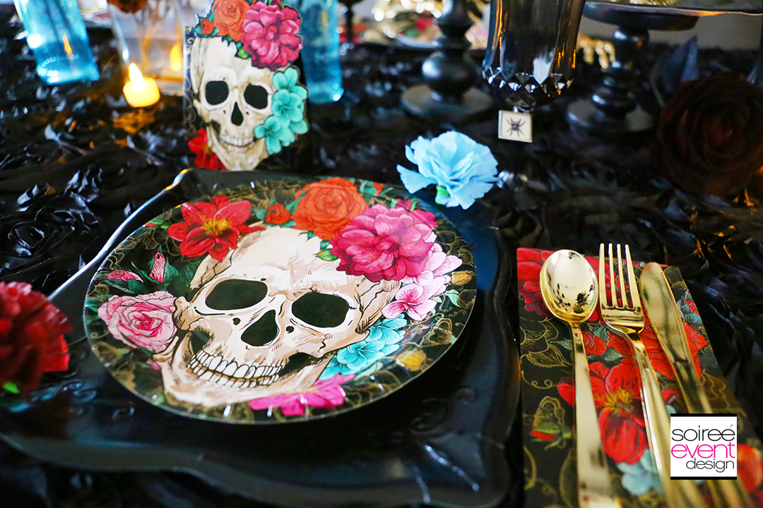 Day of the Dead Party Ideas - Spooky Floral Partyware