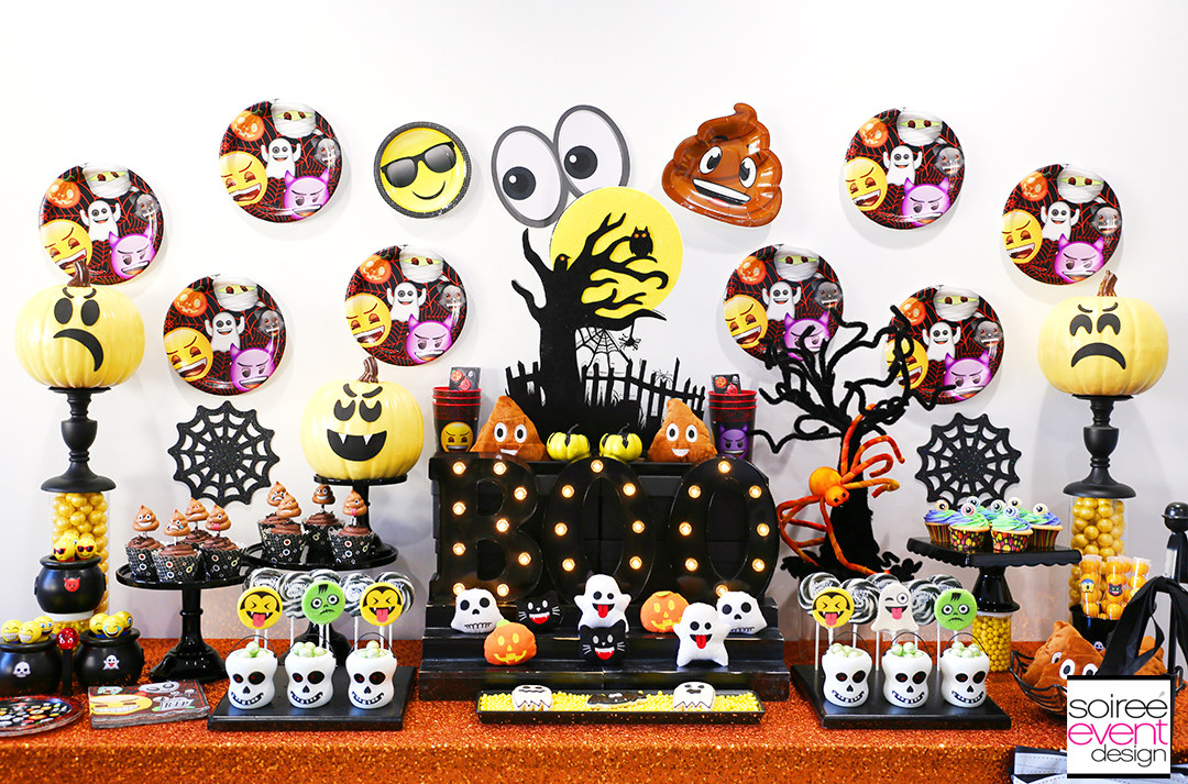 Emoji Halloween Party Ideas - DIY Emoji Candy Table