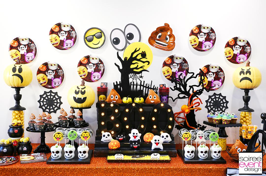 Emoji Halloween Party Ideas - DIY Emoji Candy Table