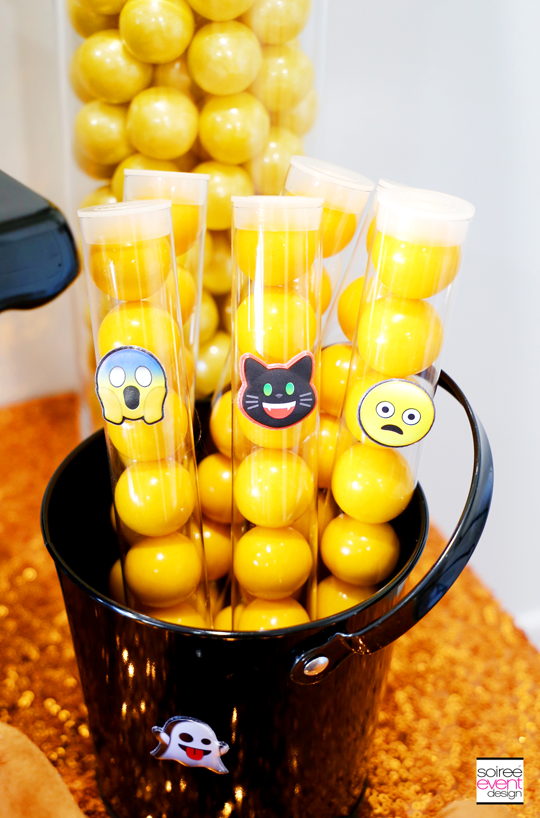 Emoji Halloween Party Ideas - Emoji Candy Party Favors