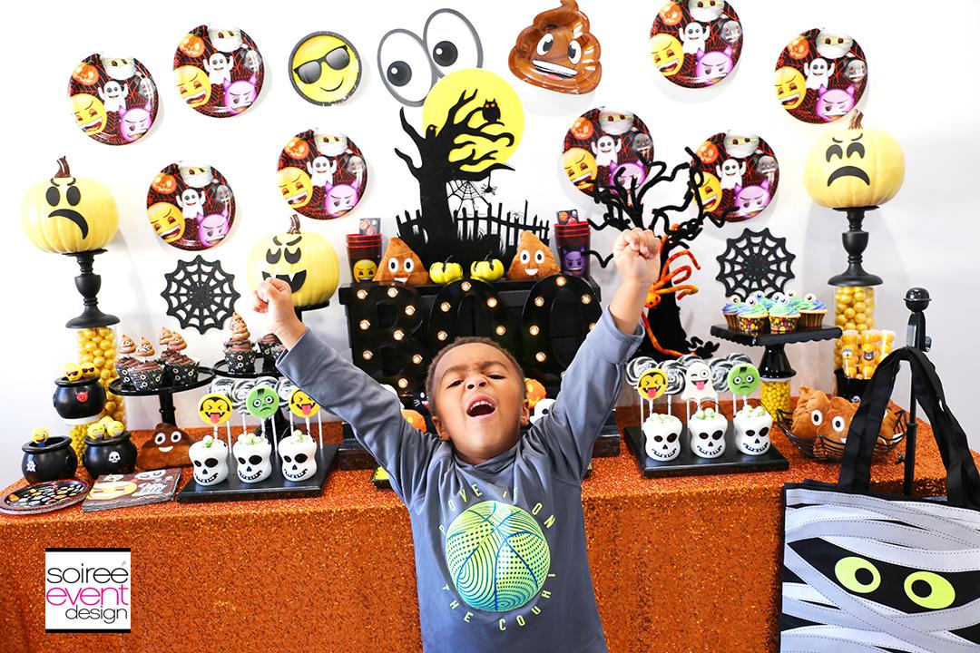 Emoji Halloween Party Ideas - Emoji Dessert Table