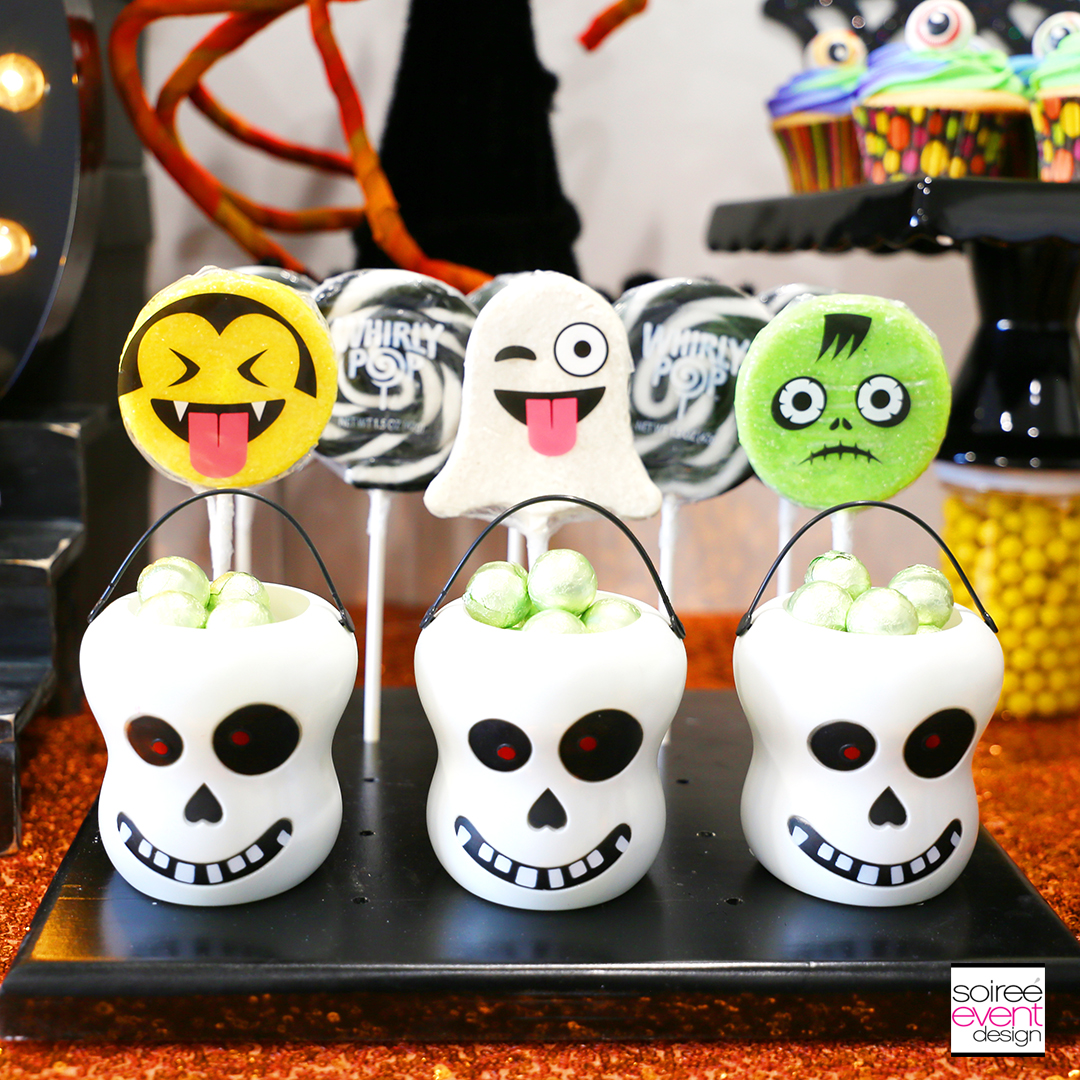 Emoji Halloween Party Ideas - Emoji Halloween Lollipops
