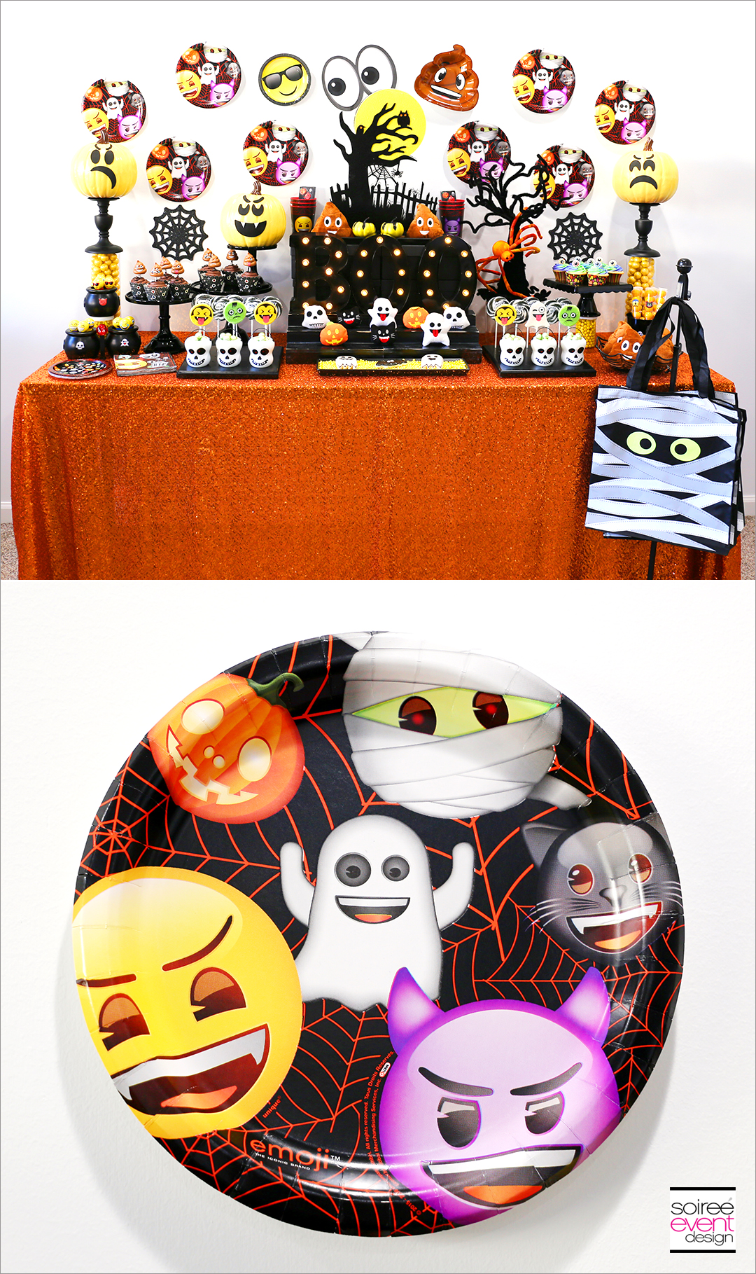 Emoji Halloween Party Ideas - Emoji Halloween Party Plates