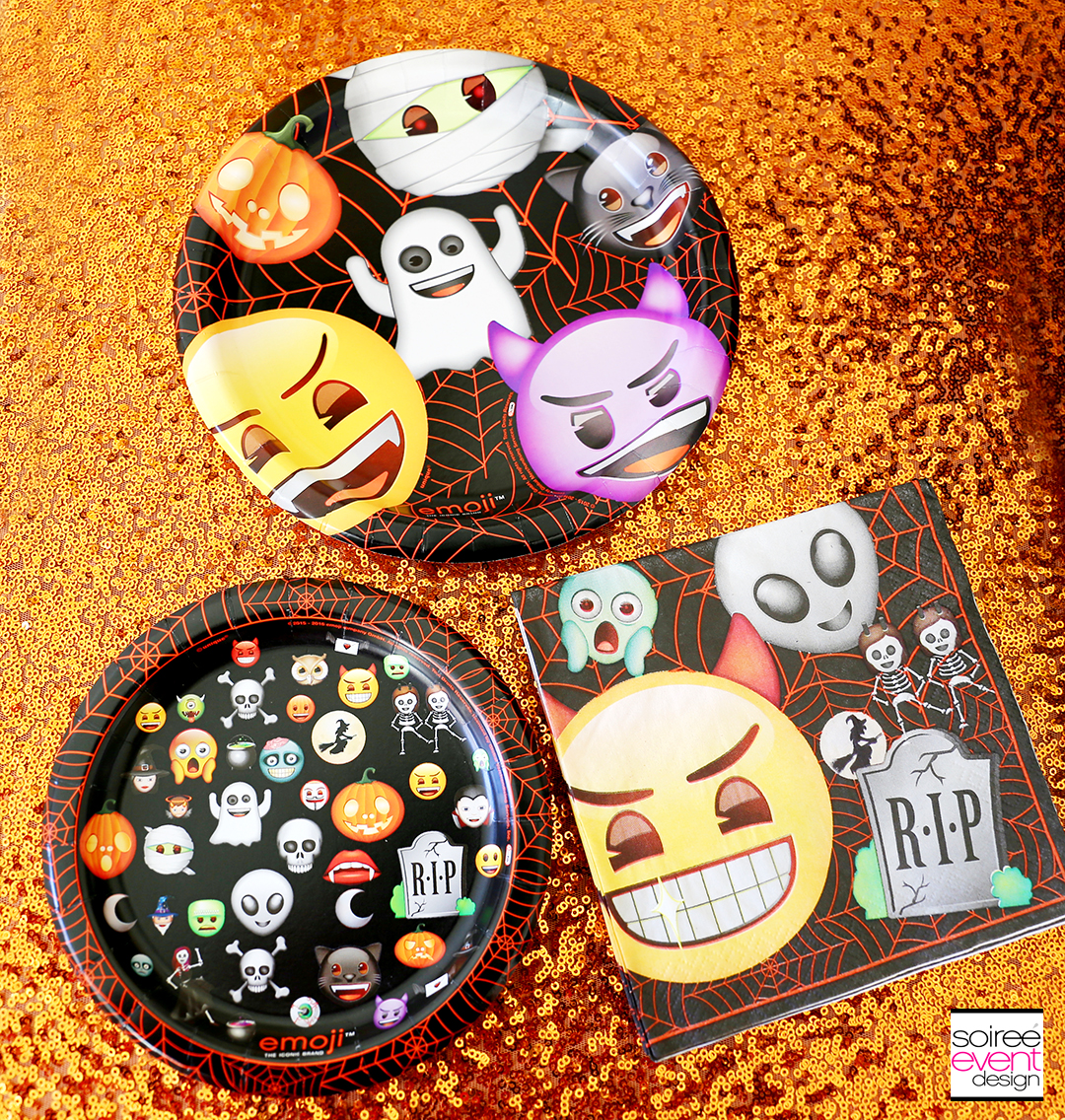 Emoji halloween party ideas soiree event design for Halloween party favor ideas