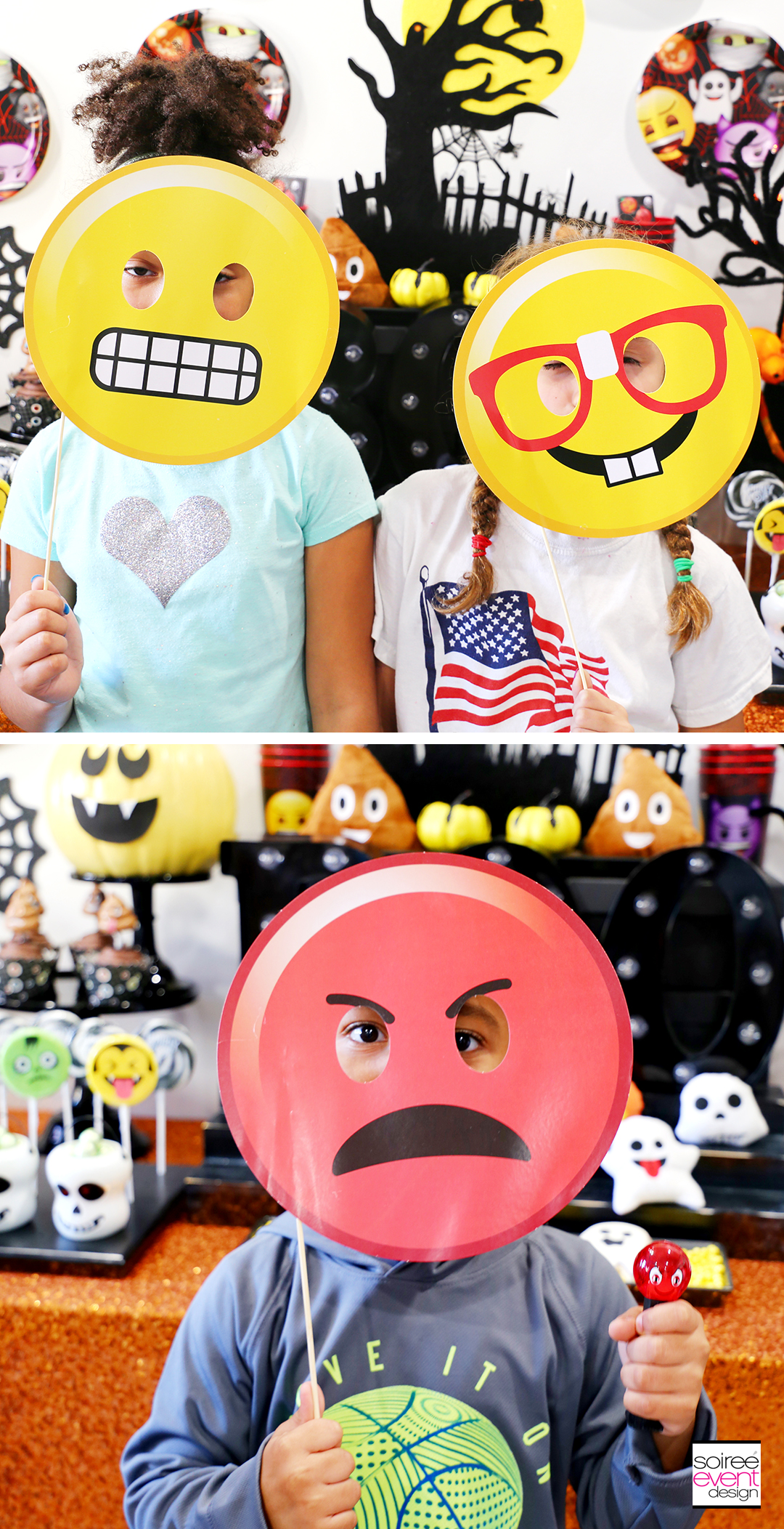 Emoji Halloween Party Ideas - Emoji Photo Stick Props