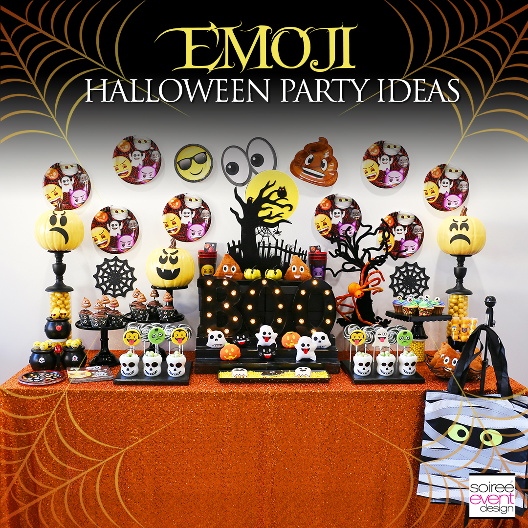 Halloween Theme Party Ideas.Emoji Halloween Party Ideas Soiree Event Design