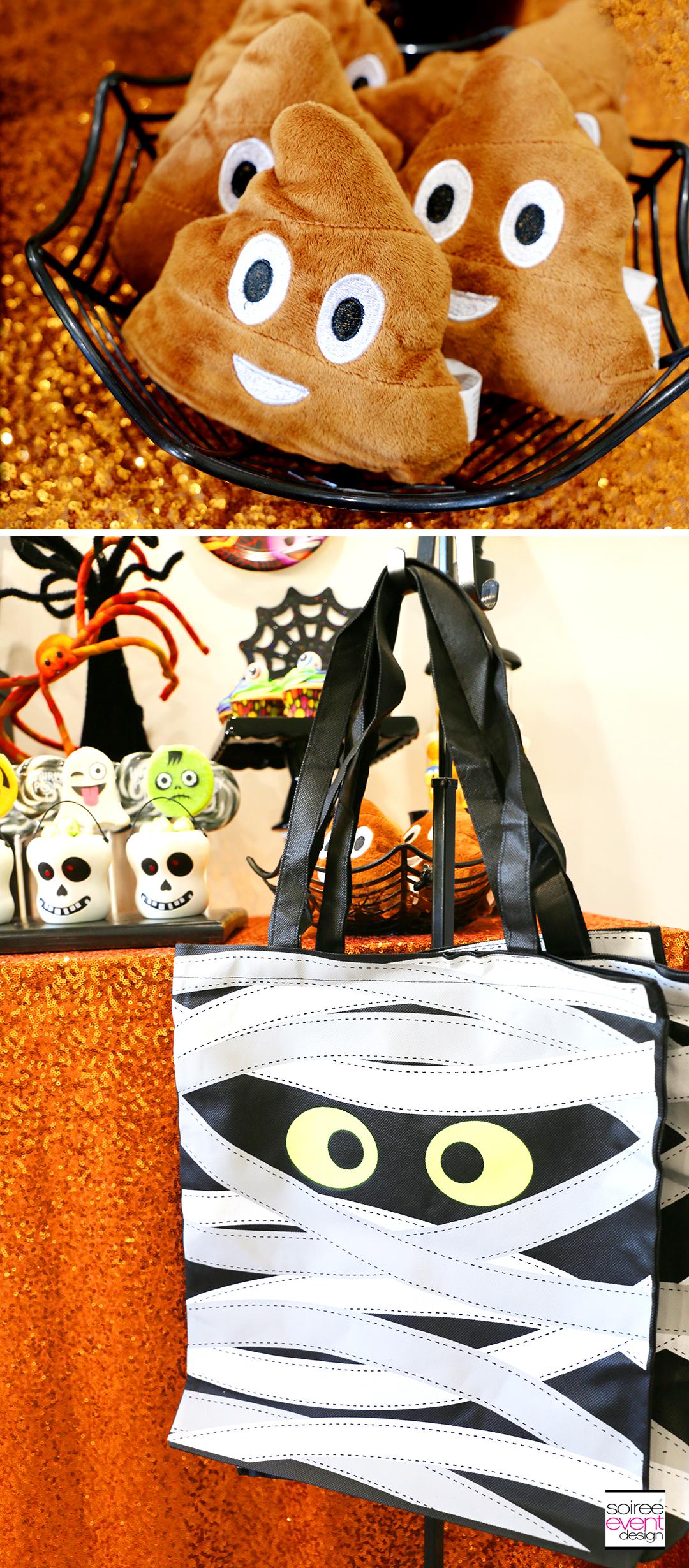 Emoji Halloween Party Ideas - Plush Poop Emojis