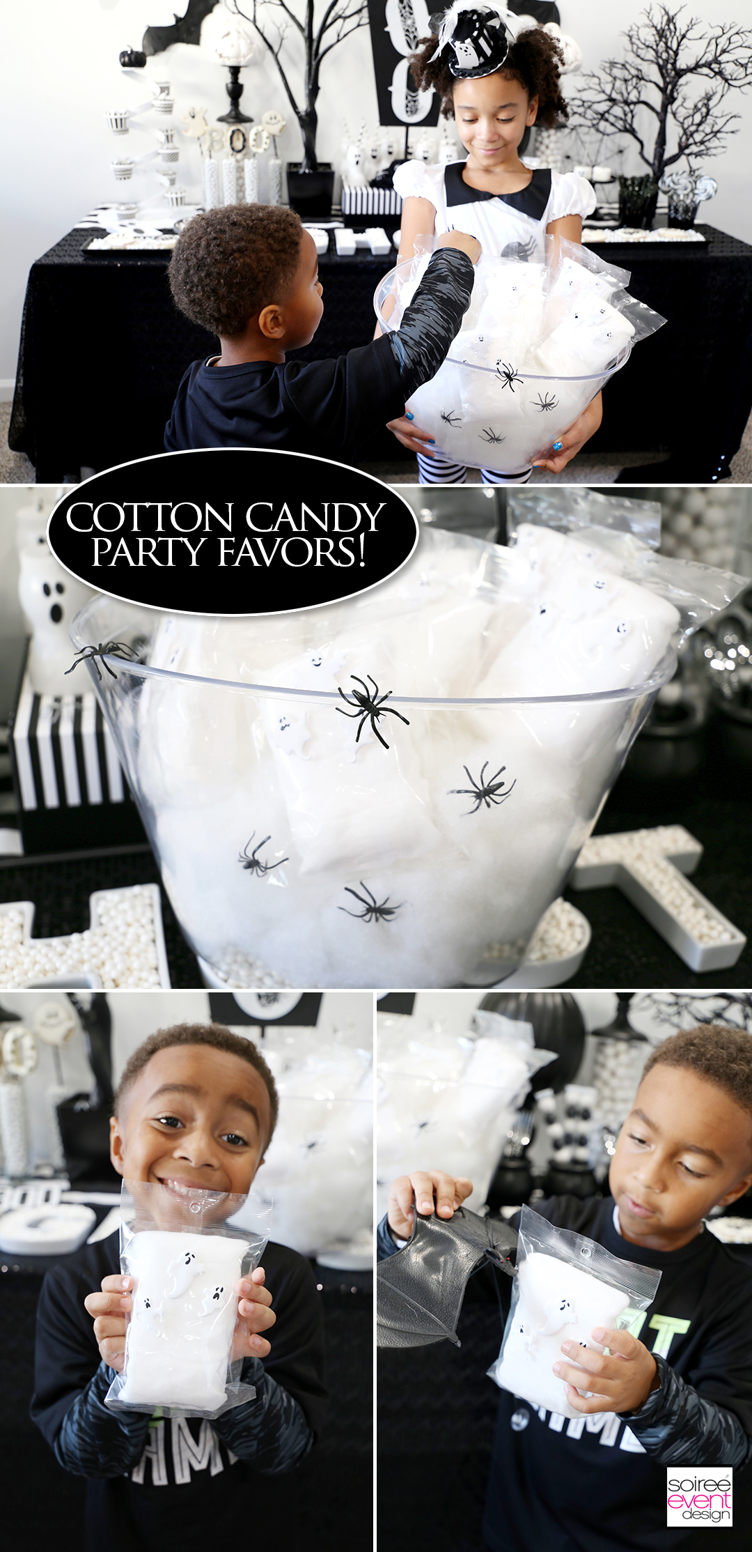 Halloween Desserts - Cotton Candy party favors