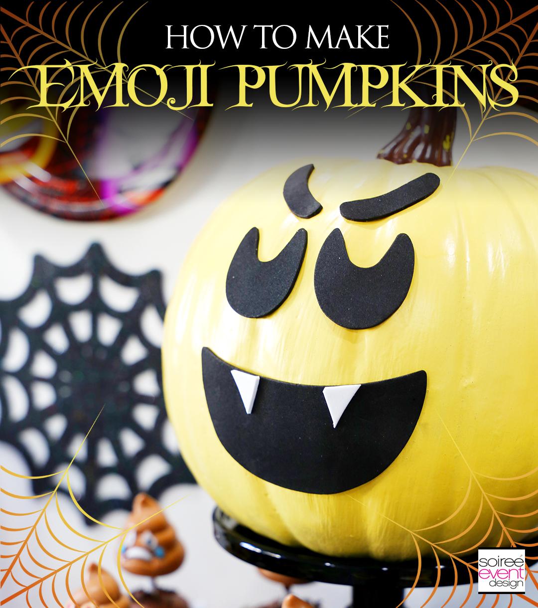 Halloween Emoji Pumpkins