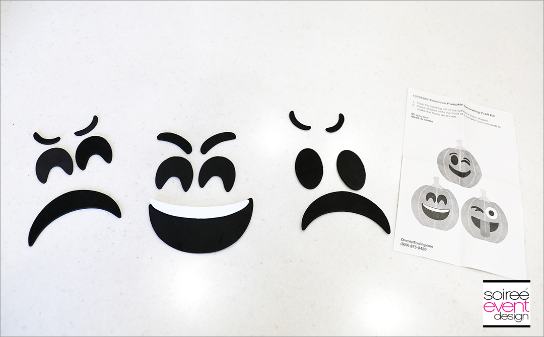 How to Make Halloween Emoji Pumpkins! - Soiree Event Design