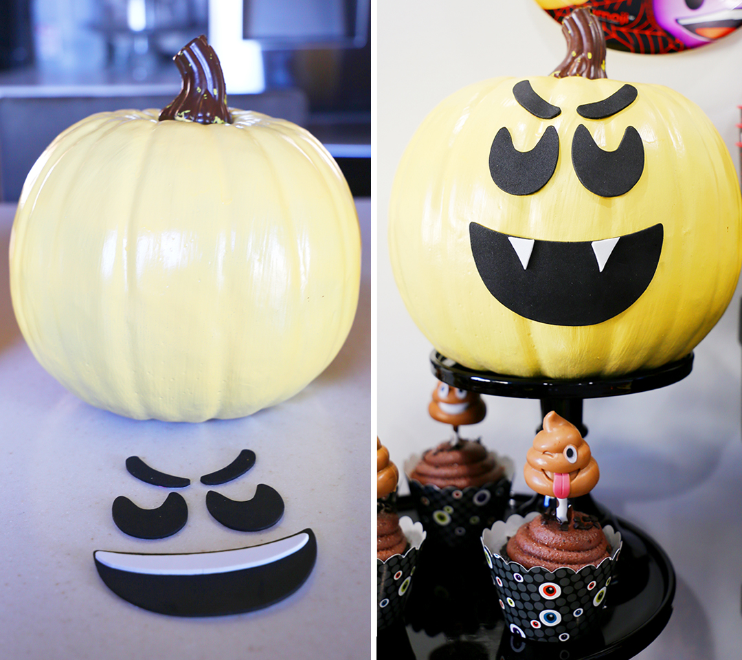 Halloween Emoji Pumpkins - Step 3B