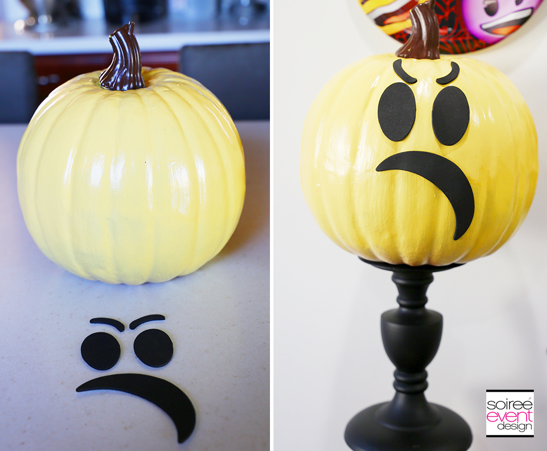 Halloween Emoji Pumpkins - Step 3C