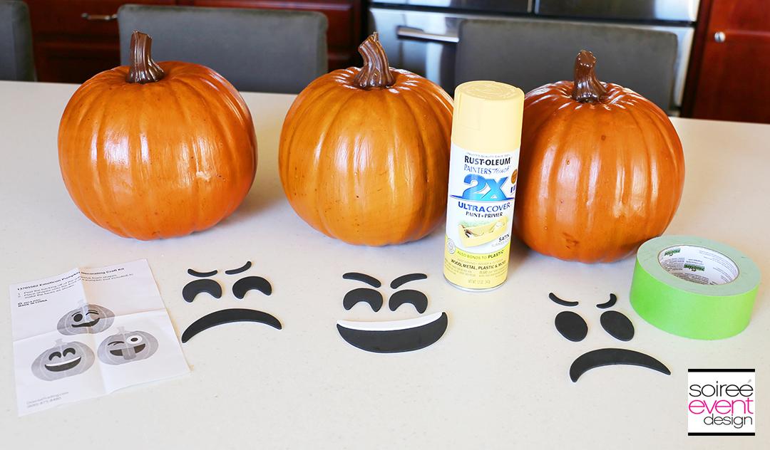 Halloween Emoji Pumpkins - Supplies