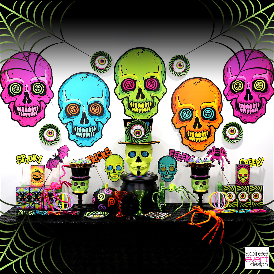 kid-friendly spookadelic halloween party ideas - soiree event design