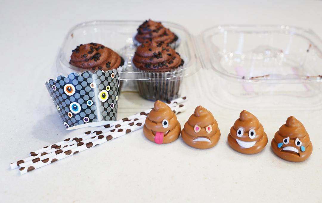 Poop Emoji Cupcakes - Supplies