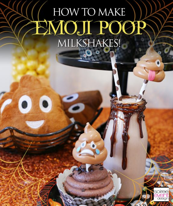 How To Make Poop Emoji Milkshakes!
