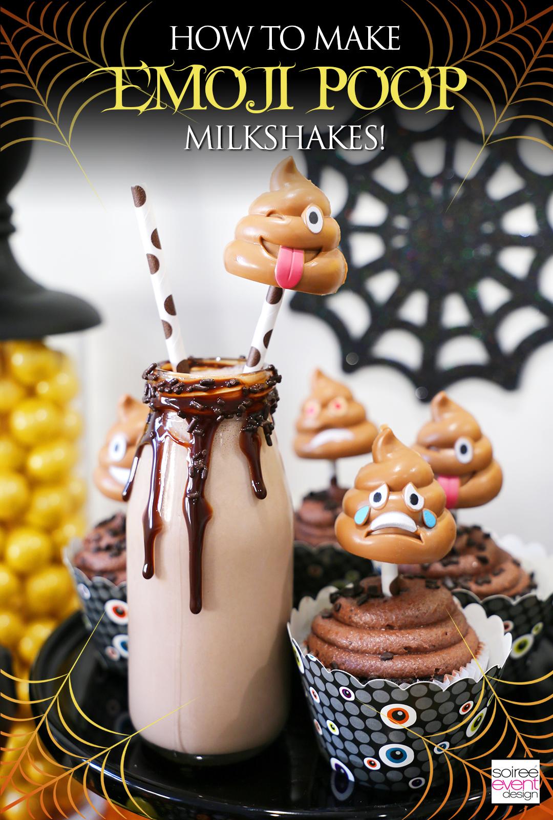 Poop Emoji Milkshakes