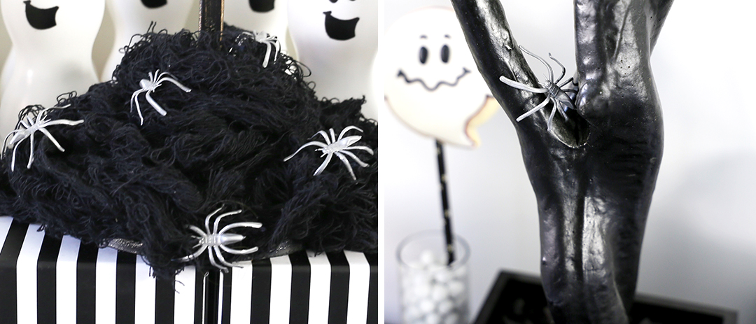 Silver Spider Halloween Decorations