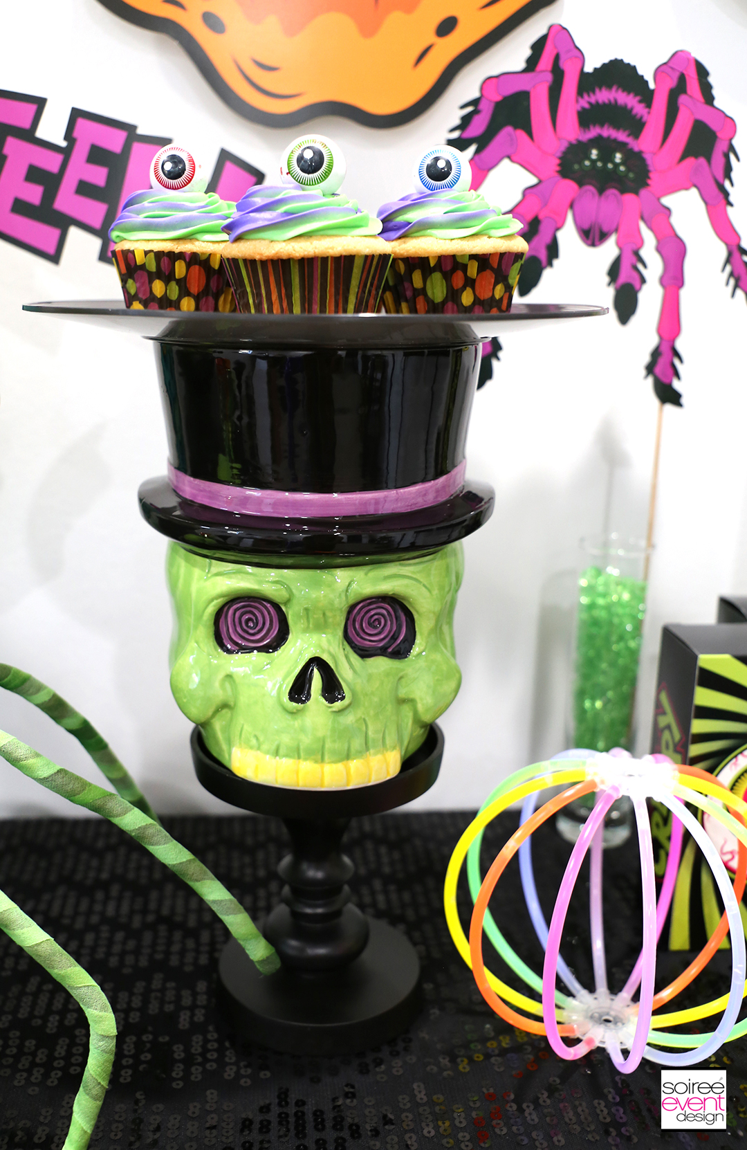 Spookadelic Halloween Party Cupcake Stand