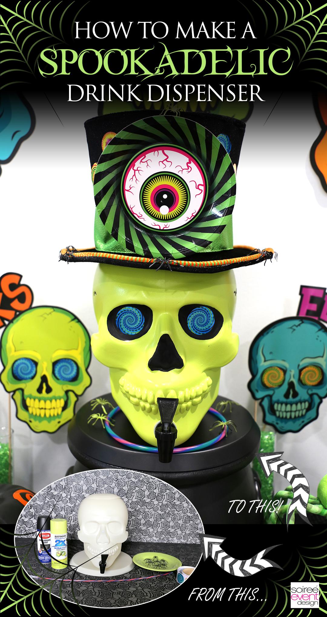Spookadelic Halloween Party - DIY Skull Drink Dispenser