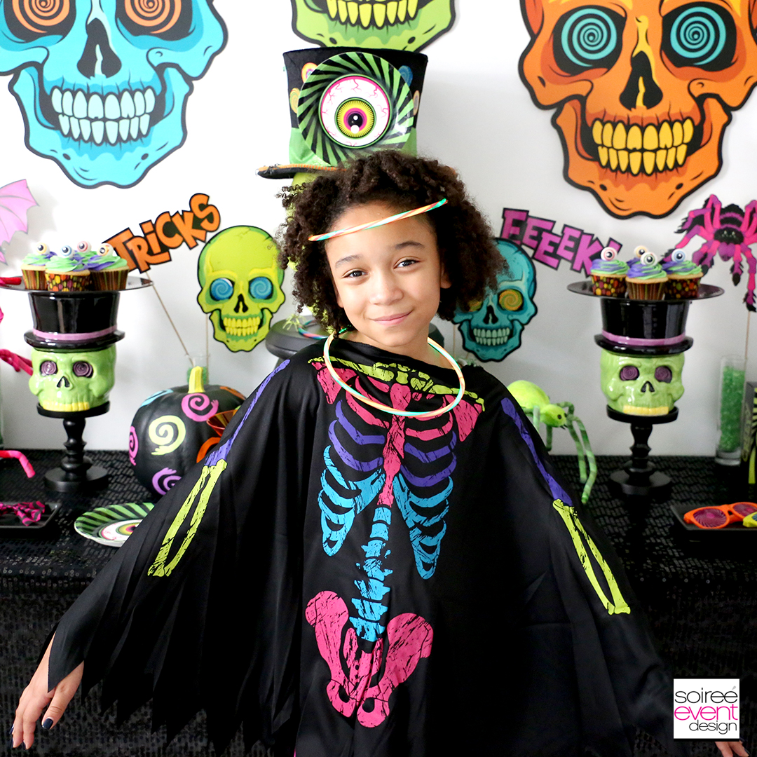spookadelic halloween party ideas bright costumes
