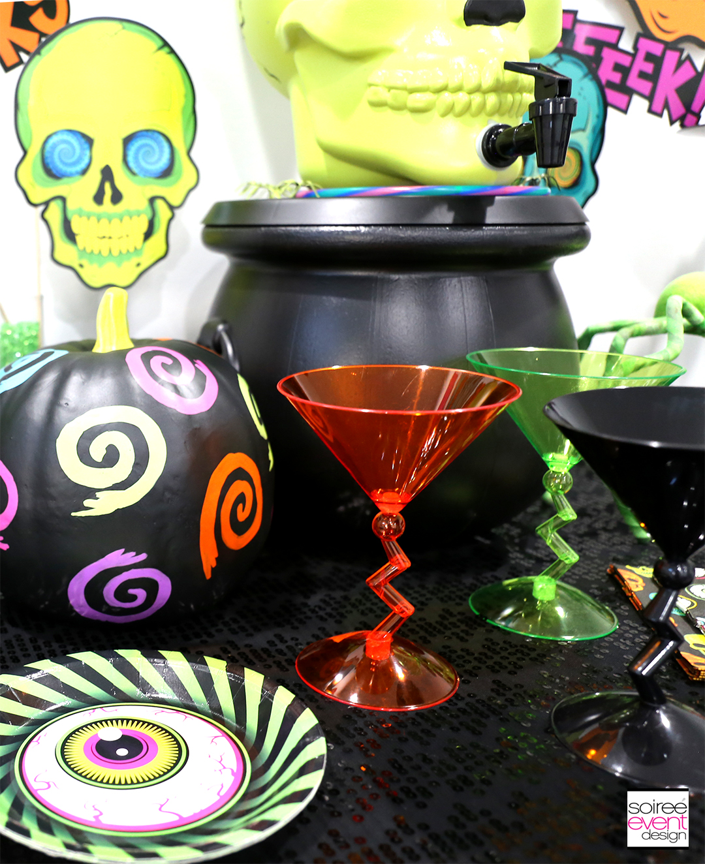 Spookadelic Halloween Party Martini Glasses