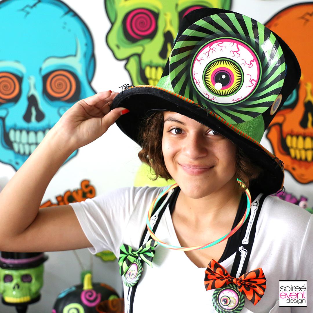Spookadelic Halloween Party Top Hat